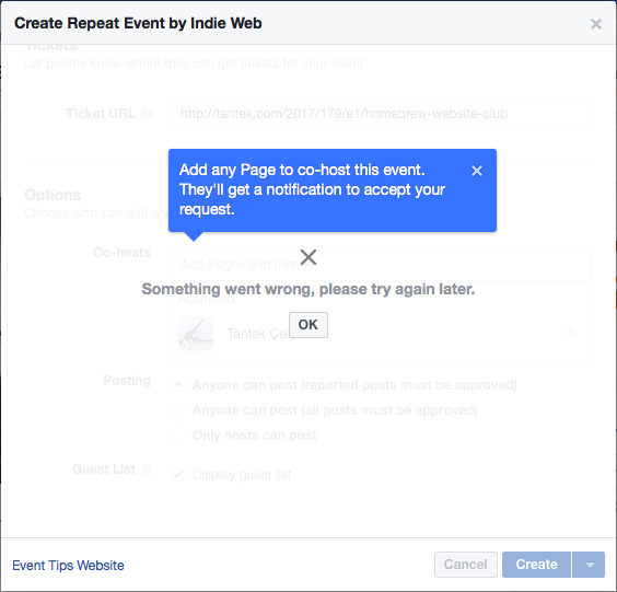 create event - IndieWeb