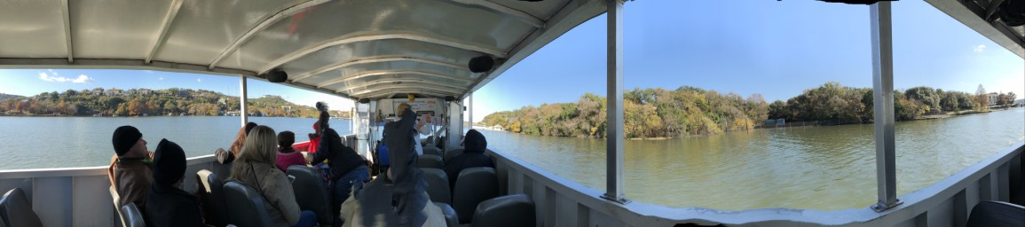 partial panorama of Austin Lake from Austin Duck Adventures tour