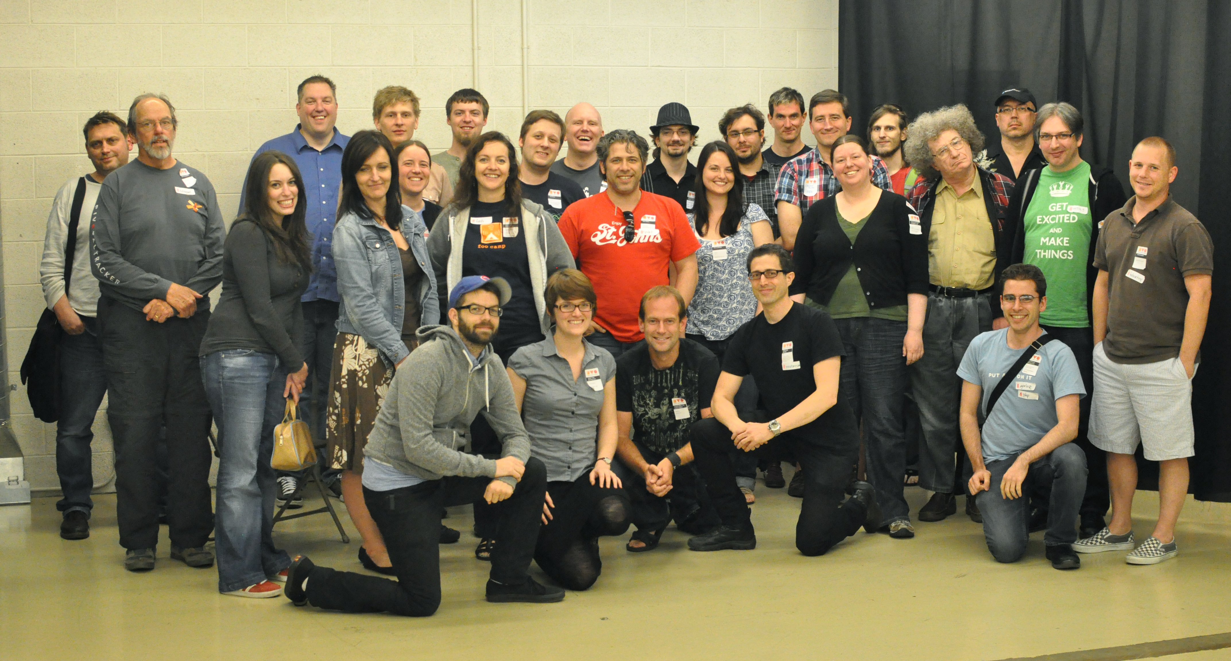 Photograph of the first IndieWebCamp participants, 2011, in Portland, Oregon