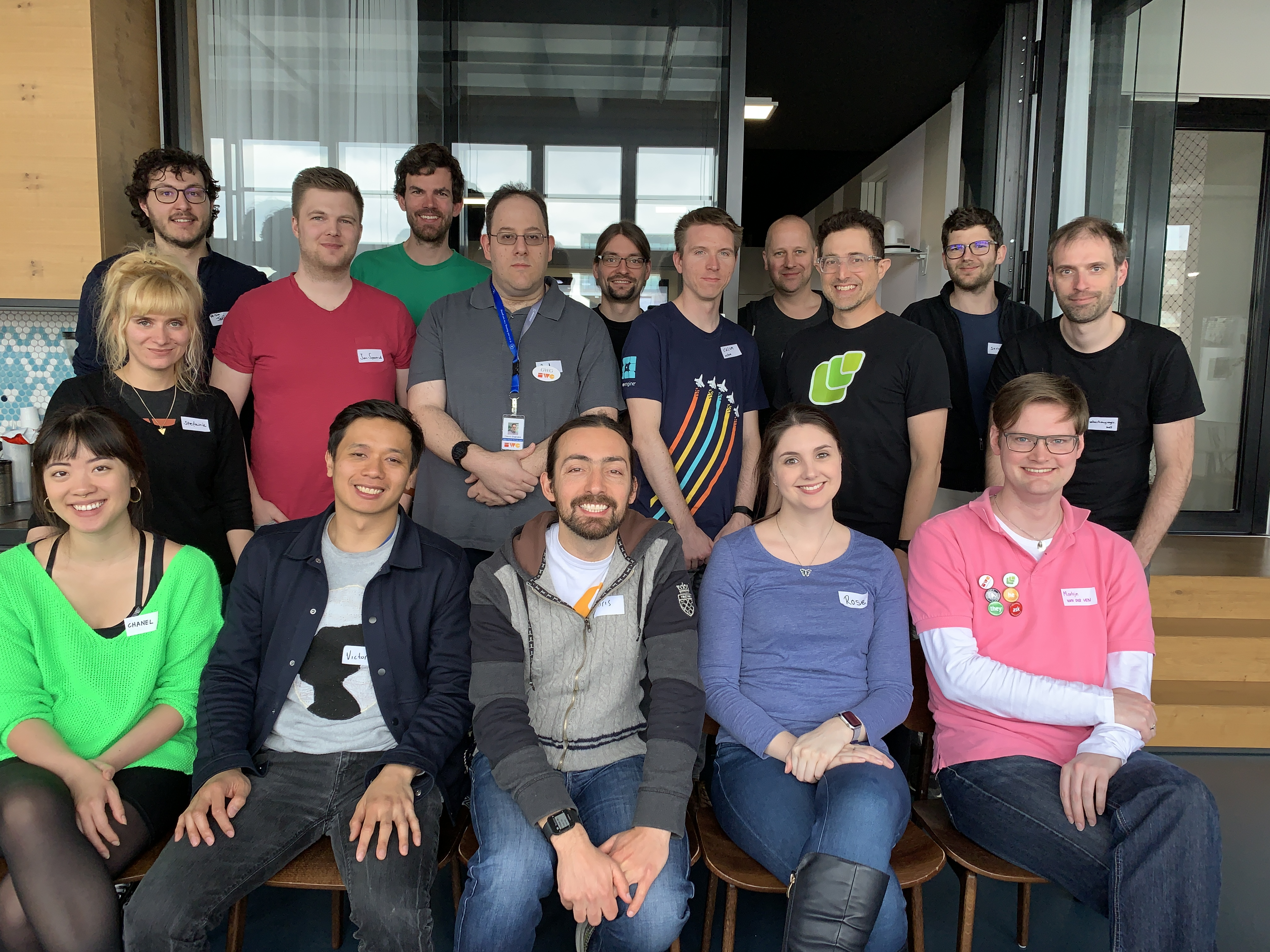 Happy participants of IndieWebCamp Berlin 2019 Day 2