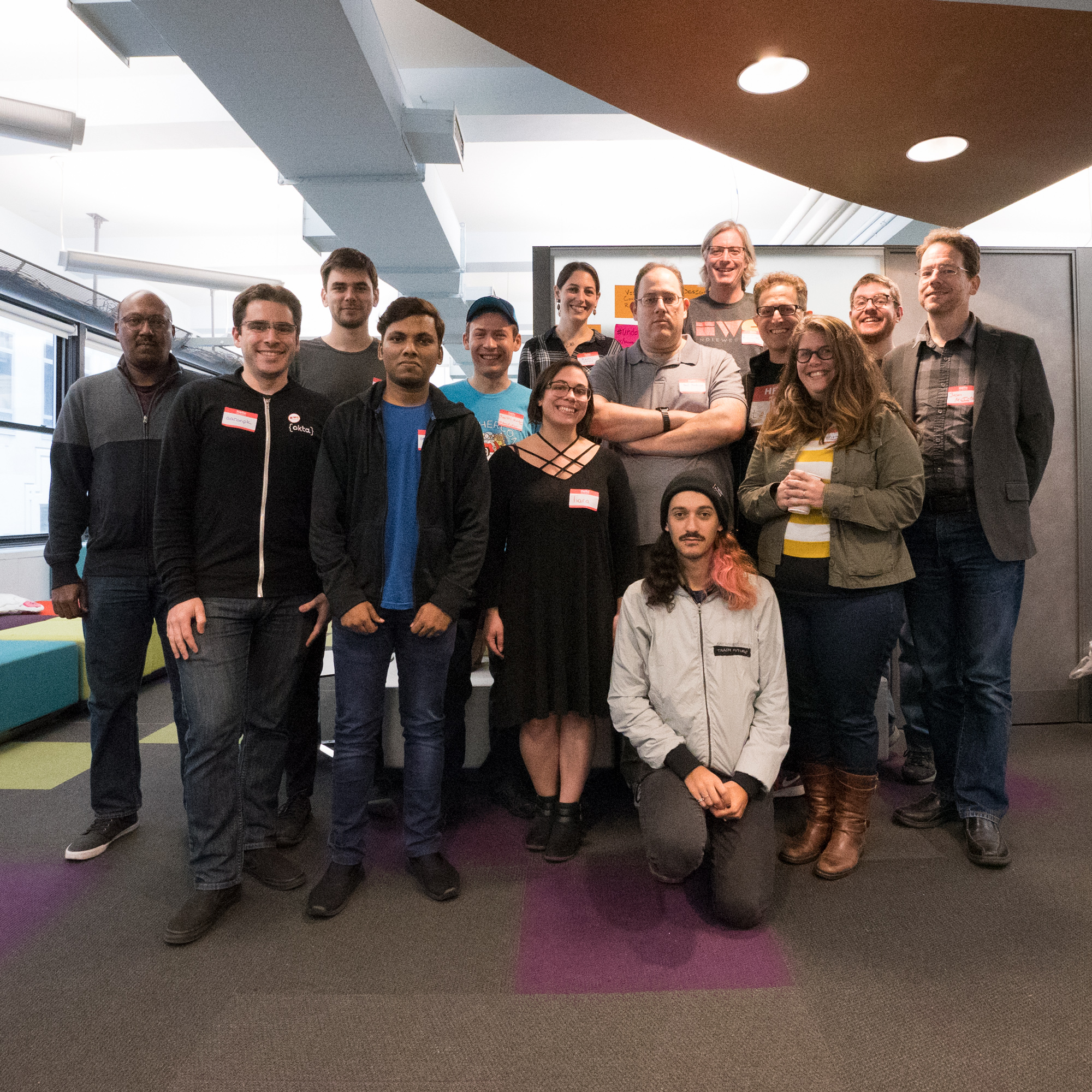 Photo of attendees of IndieWebCamp NYC 2018 day 1