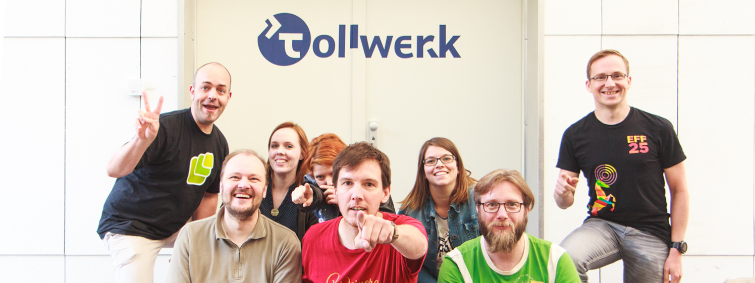 Joschi, Sebastian, Nadine, Jule, Dirk, Isabel, Thilo and Björn at the Homebrew Website Club in Nuremberg at July 6th, 2016