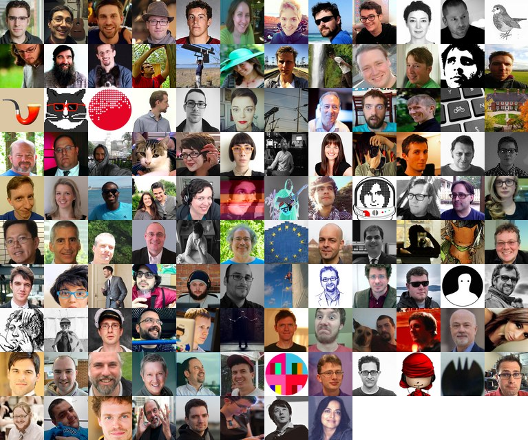 2014 IndieWeb movement grid of faces