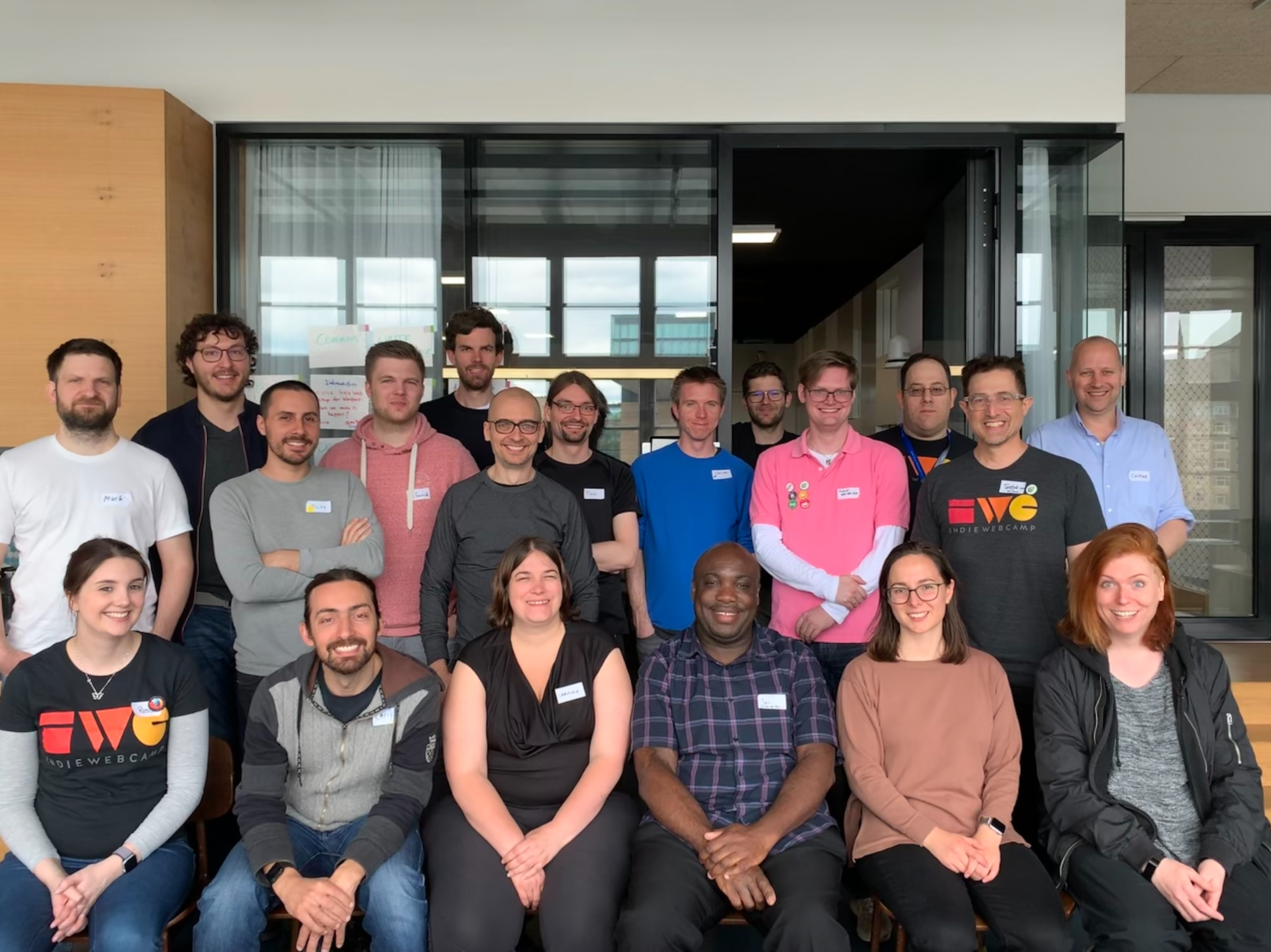 Happy participants at IndieWebCamp Berlin 2019