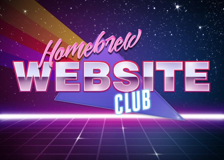 Homebrew Website Club retro 1980s-style logo.