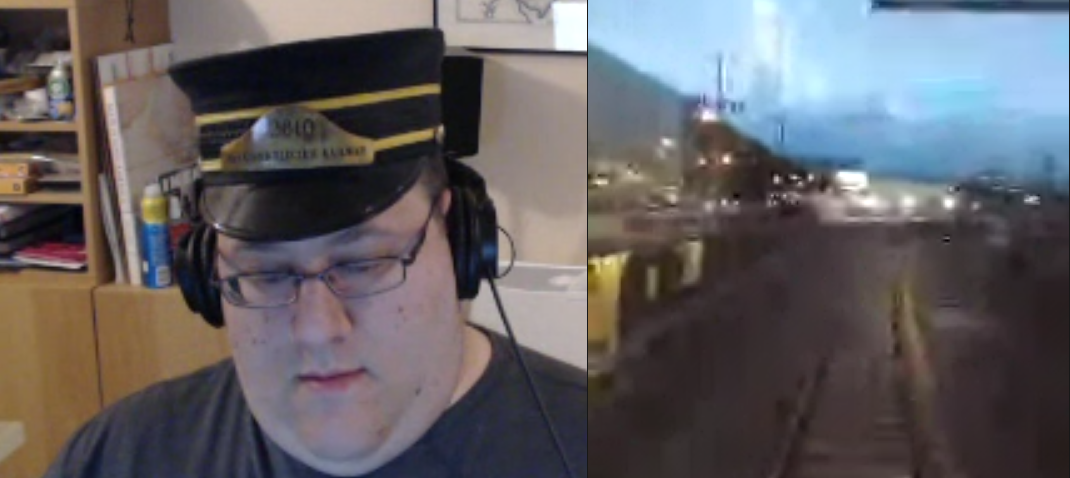 As impossible as it may seem, Chris Aldrich (in LA) watches with interest during quiet writing hours as David Shanske (in NY) dons his conductor cap while Kevin Marks (in SF) treats us to a live stream of his train ride to HWC SF.