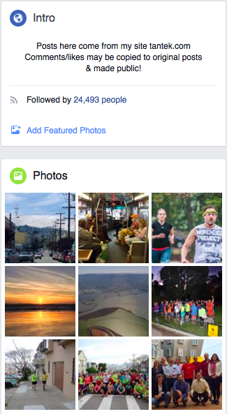 What are the featured photos on facebook