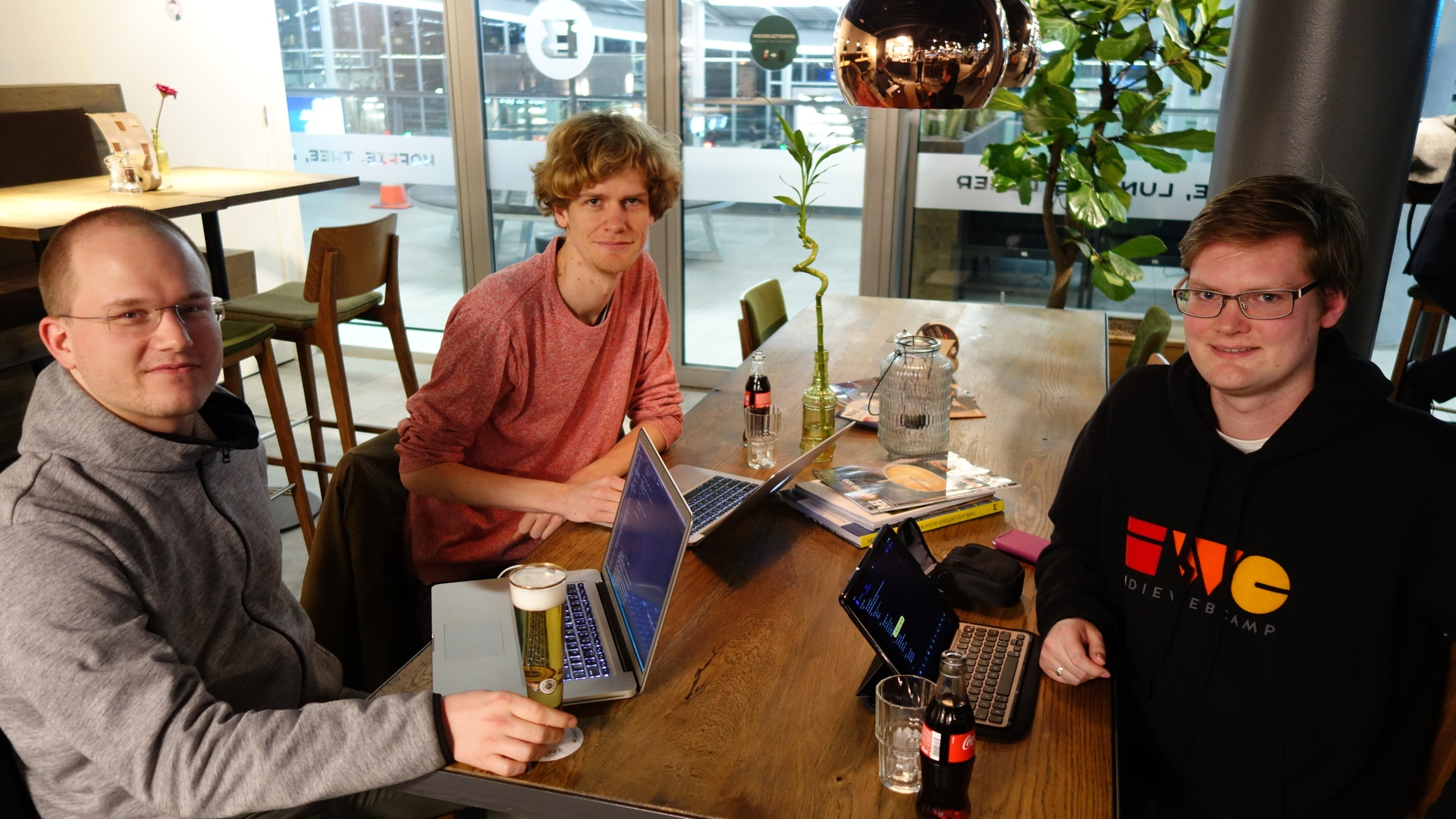 Photo of Homebrew Website Club the Netherlands with Jesse, Sebastiaan, and Martijn
