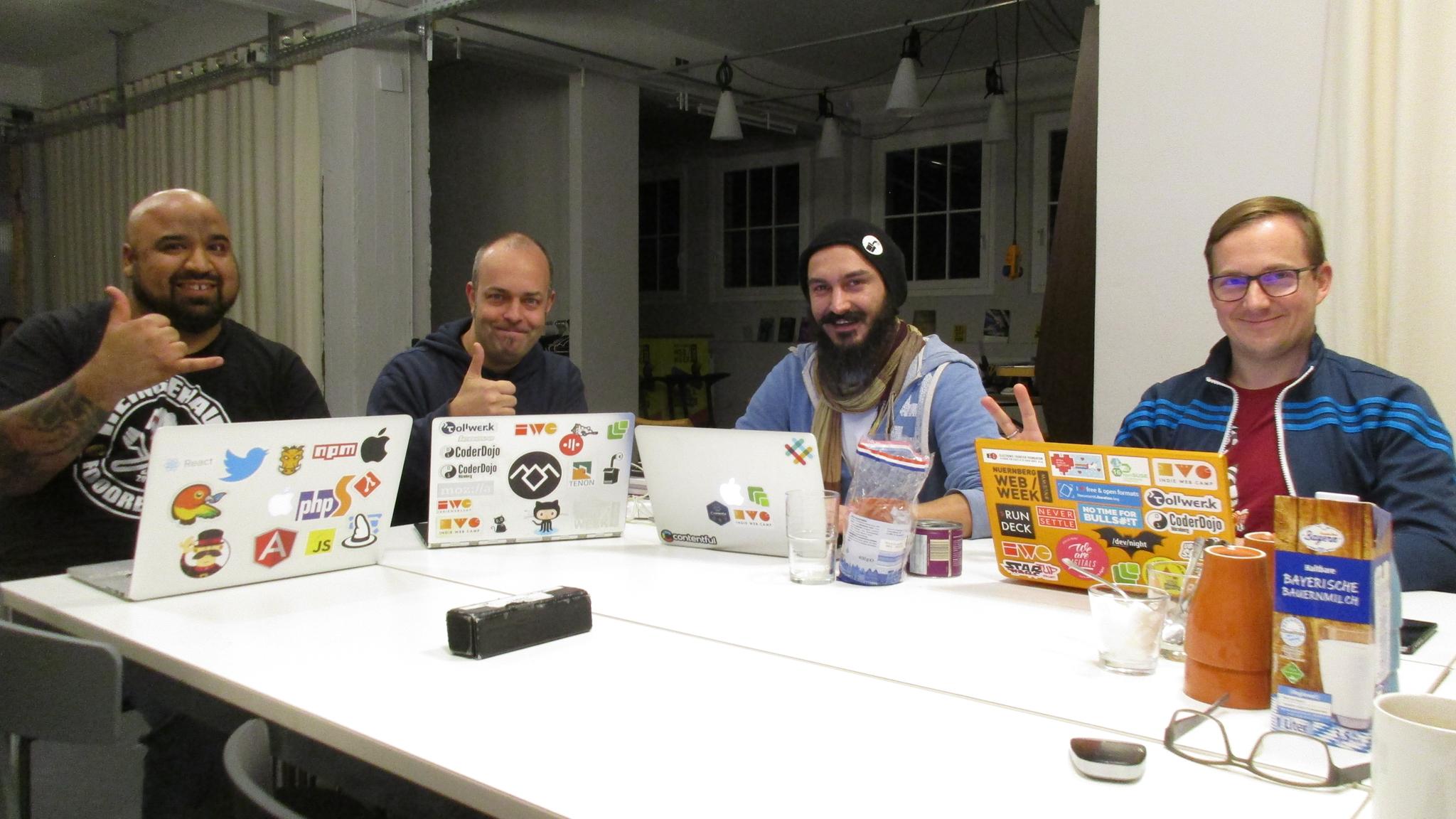 Attendees of the Homebrew Website Club Nürnberg 2017-11-22
