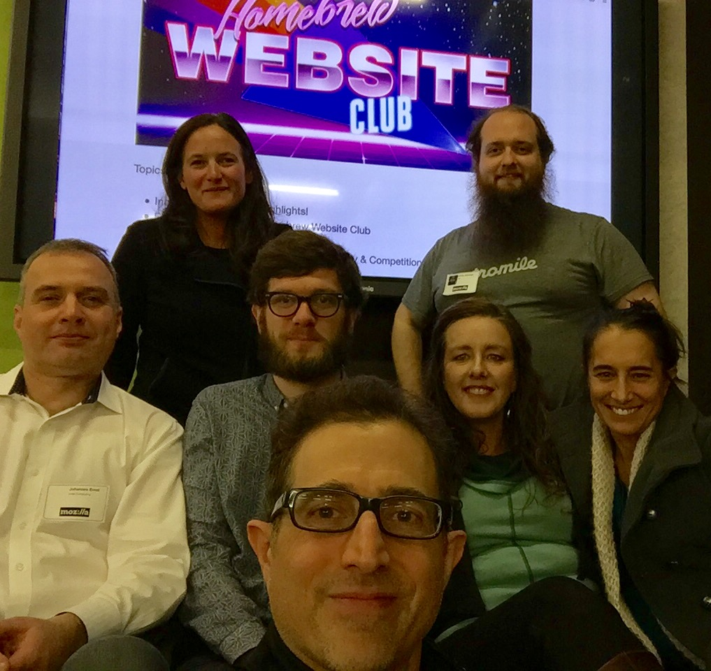 Homebrew Website Club SF participants