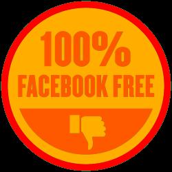 No facebook Badge