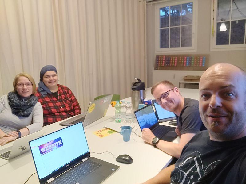 Susanne, Saskia, Björn and Joschi at the HWC Nürnberg