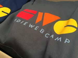 IndieWebCamp Hoodie are ready!