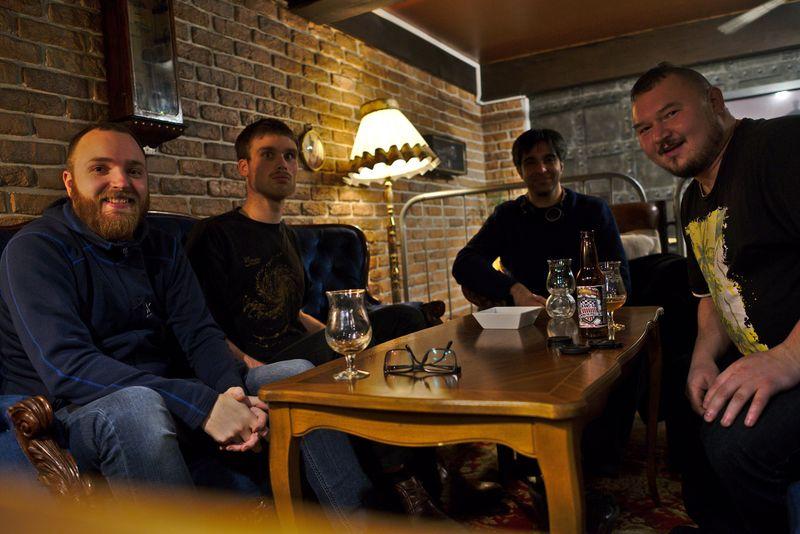 Photo of Gothenburg HWC with Jeena, Jonatan, Zeeshan, and Martin