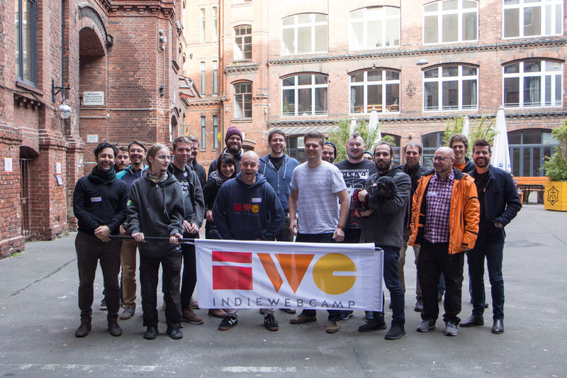 Photo of IndieWebCamp Berlin participants